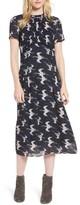 Hinge Women's Shirred Midi Dress