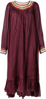 Tsumori Chisato crochet trim tunic dress - women - Silk/Polyurethane/Polyester - S