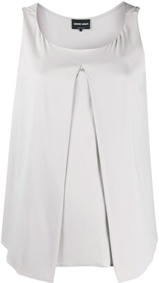 Giorgio Armani Front Pleat Blouse