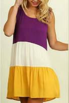 Umgee USA Colorblock Peasant Dress