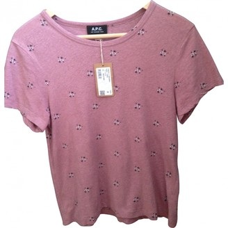 A.P.C. Pink Cotton Top for Women