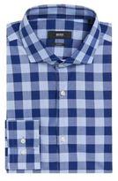HUGO BOSS Jason Slim Fit, Cotton Check Dress Shirt 15.5Blue