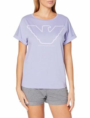 Emporio Armani Women's Visibility-Pure Organic Cotton Pajamas Pyjama Set