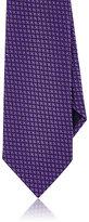 Ermenegildo Zegna Men's Floral Woven Silk Necktie-PURPLE