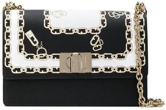 Furla Chain Print Crossbody Bag