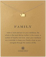 "Dogeared Reminder ""Family"" -Plated Sterling Silver Whale Pendant Necklace"