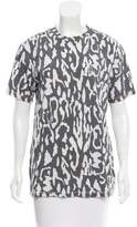 Baja East Leopard Print Short Sleeve T-Shirt