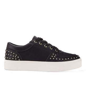 Simply Be Ariel Studded Trainers Extra Wide Fit
