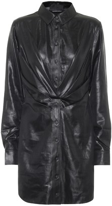 RtA Vivienne faux leather minidress