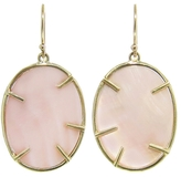 Annette Ferdinandsen Small Pink Mother of Pearl Lunaria Earrings - Yellow Gold