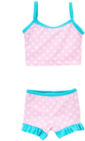 Flap Happy Pink Punch Ruffle Tankini - Toddler