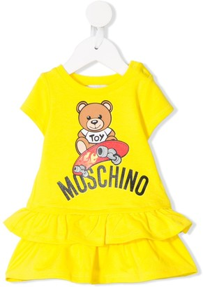 MOSCHINO BAMBINO Teddy Bear tiered dress