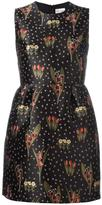 RED Valentino floral pattern flared dress