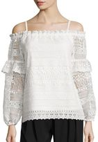Parker Jordanna Off-the-Shoulder Lace Blouse