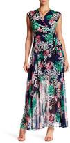 Taylor Jersey & Chiffon Faux Wrap Maxi Dress