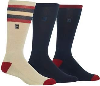 Chaps Men's 3-Pack Retro Stripe Dress Crew Socks