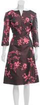 Oscar de la Renta 2016 Iridescent Floral Dress w/ Tags