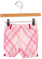 Burberry Girls' Elasticized Nova Check Shorts