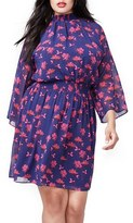 Rachel Roy Plus Size Women's Smocked Chiffon Dress