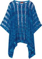 Missoni Metallic crochet-knit coverup
