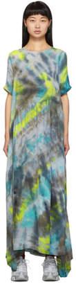 Collina Strada Black and Yellow Tie-Dye Ritual Dress