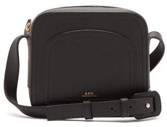 A.P.C. Louisette Smooth-leather Cross-body Bag - Womens - Black
