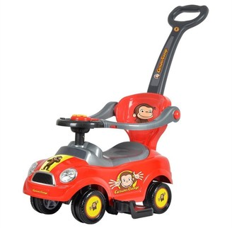 Best Ride on Cars Curious George 3 in 1 push car
