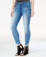 Dollhouse Juniors' Skinny Frayed-Hem Ankle Jeans