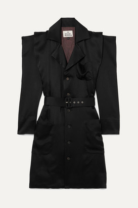 Vivienne Westwood Cath Belted Satin Dress - Black