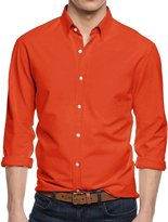 Hat and Beyond HB Men's Dress Shirts Casual Plain Long Sleeve Slim Fit (M (15-15.5), )