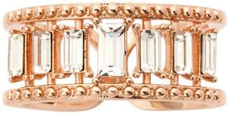 SPARKLE ALLURE Sparkle Allure Pink Crystal 14k Rose Gold Over Brass