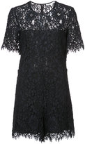 Veronica Beard lace mini dress - women - Cotton/Nylon/Polyester/Viscose - 2
