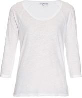 James Perse Raglan-sleeved linen and cotton-blend T-shirt