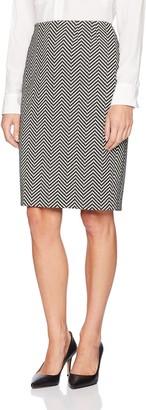 Kasper Women's Novelty Herringbone Slim Skirt