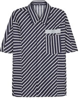 Lanvin Navy Striped Cotton Shirt