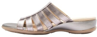 Wide Steps Canal Pewter Elastic/Glove Sandal