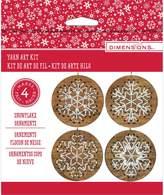 Dimensions Stitch Art Wood Ornaments Kit Makes 4-Snowflakes