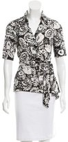 Diane von Furstenberg Silk Jillianna Wrap Top