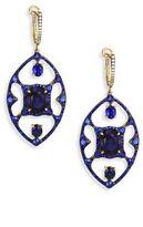 Ivy Diamond & Blue Sapphire Drop Earrings