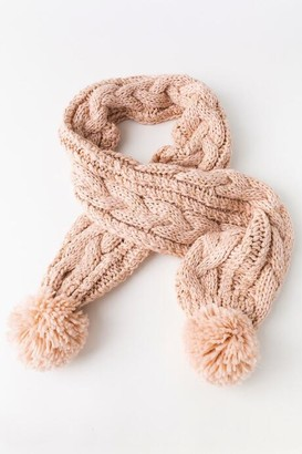 francesca's Lauren Knit Scarf - Blush