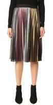 BCBGMAXAZRIA Metallic Pleated Skirt