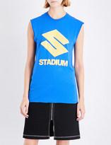 Justin Bieber Ladies Blue Yellow Exclusive Stadium Tour Cotton-Jersey Top