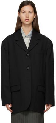 Acne Studios Black Wool Suit Blazer