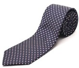 Luciano Barbera Men's Slim Silk Neck Tie Navy.