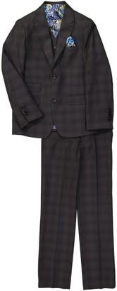 Isaac Mizrahi Plaid Slim 3-Piece Fit Suit (Toddler & Little Boys)
