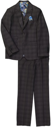 Isaac Mizrahi Plaid Slim 3-Piece Fit Suit (Toddler & Little Boys)