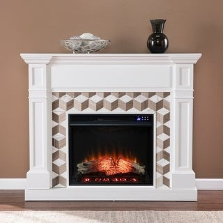 Harper Blvd Dardon Electric Fireplace with Marble Surround