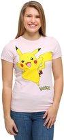 Pok?mon Pokemon Pikachu Smile Juniors T-shirt (Extra Large, Light Pink)