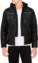 Boston Hooded Leather jacket