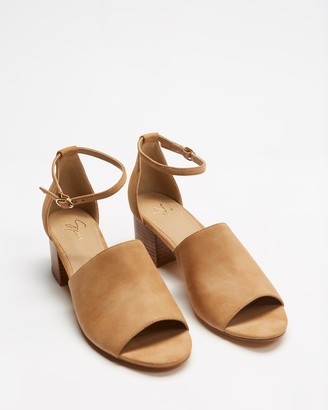 Spurr Women's Brown Mid-low heels - Lacey Heels - Size 5 at The Iconic
